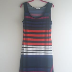 Like New Calvin Klein Stripped Maxi Dress